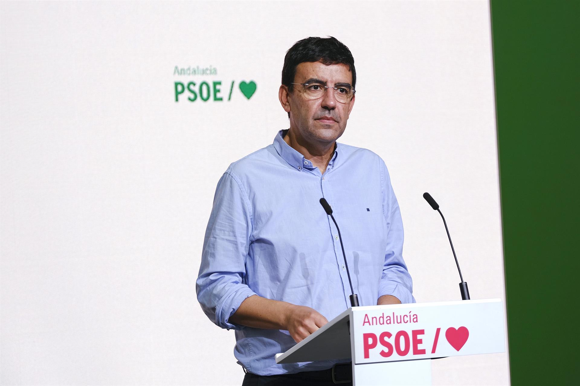 PSOE-A pide a Moreno que «ponga en su sitio» a Marín, que está «usurpando sus competencias» sobre fecha de elecciones