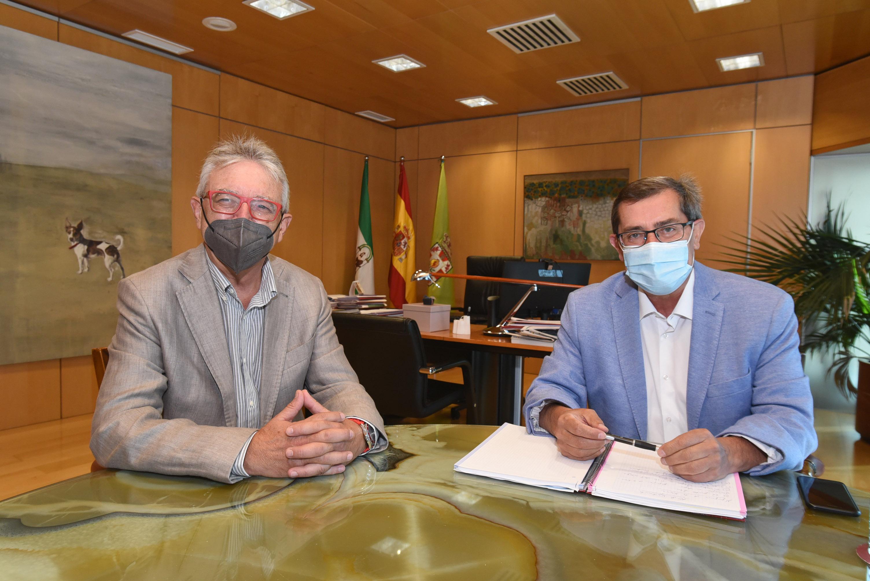 El presidente de la Diputación recibe al nuevo director del Parque de las Ciencias