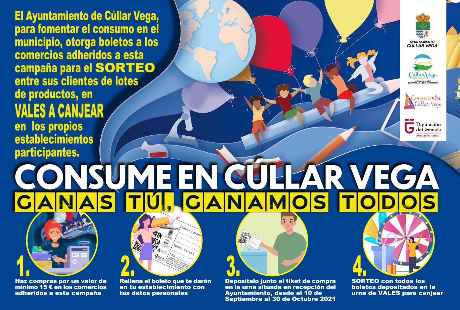 Cúllar Vega sorteará 11.500 euros en regalos entre aquellos vecinos que hagan sus compras en el pueblo
