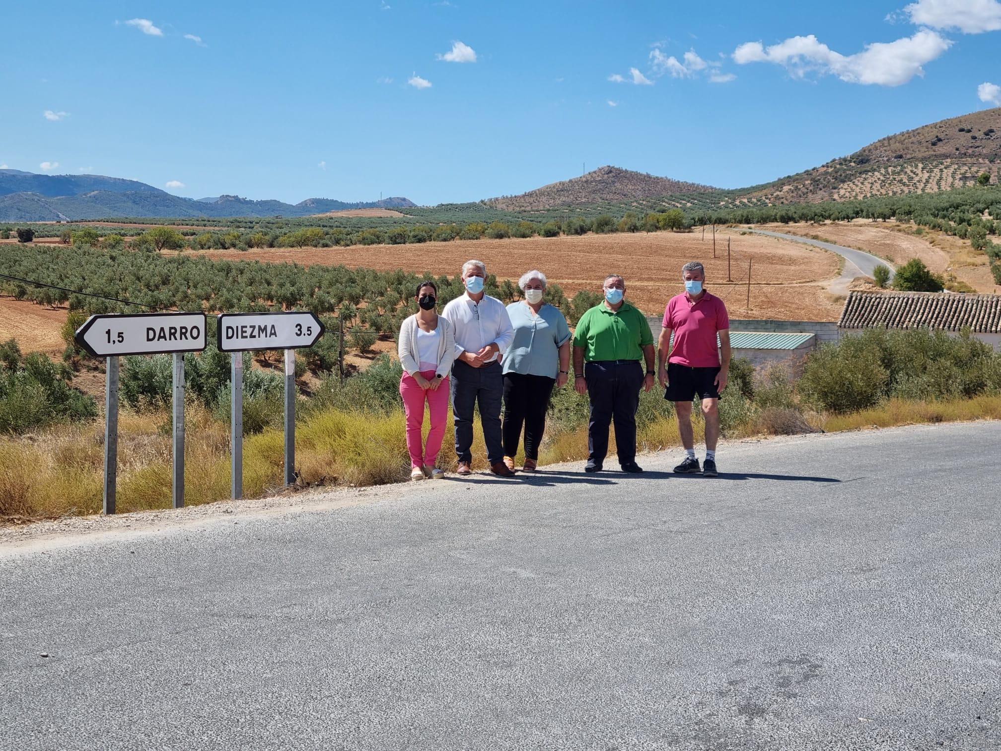 220.000 euros se invertirán en la mejora de la carretera entre Diezma y Darro