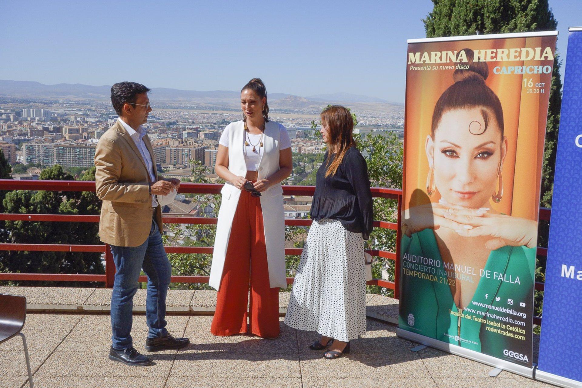 El auditorio Manuel de Falla abre temporada con la presentación en vivo del nuevo trabajo de Marina Heredia