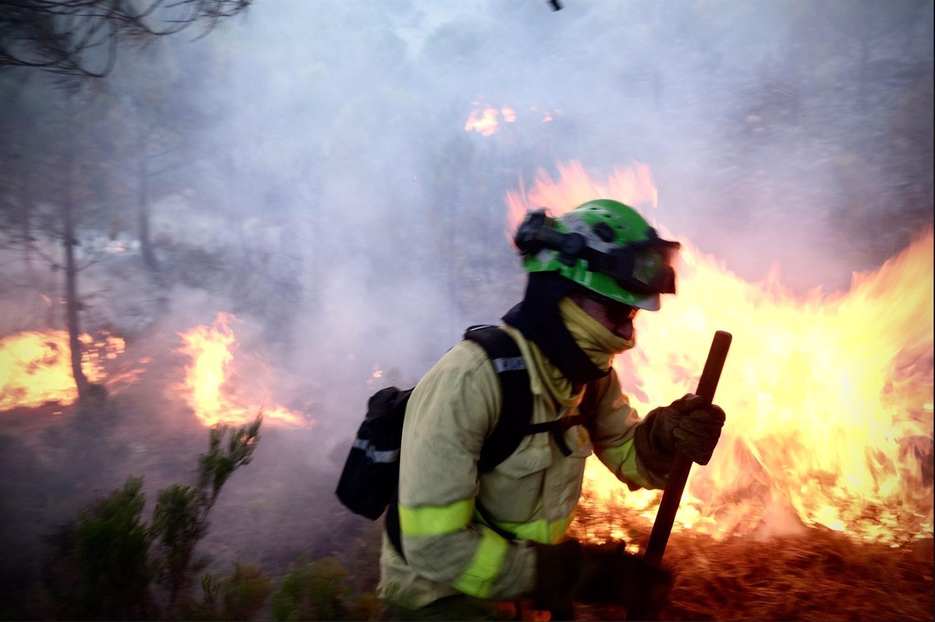 Unidas Podemos pedirá esta semana un grupo de trabajo en el Parlamento en torno a grandes incendios forestales