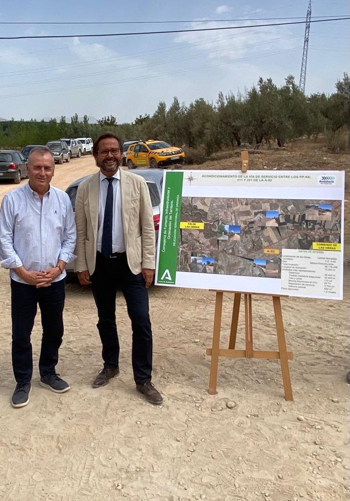 Concluyen los trabajos de reparación de la vía de servicio de la A-92 entre Láchar y Fuensanta