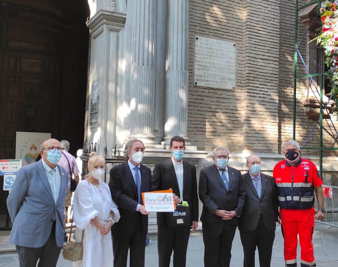 Salud distingue como zona cardioasegurada a la Basílica de la Virgen de las Angustias de Granada