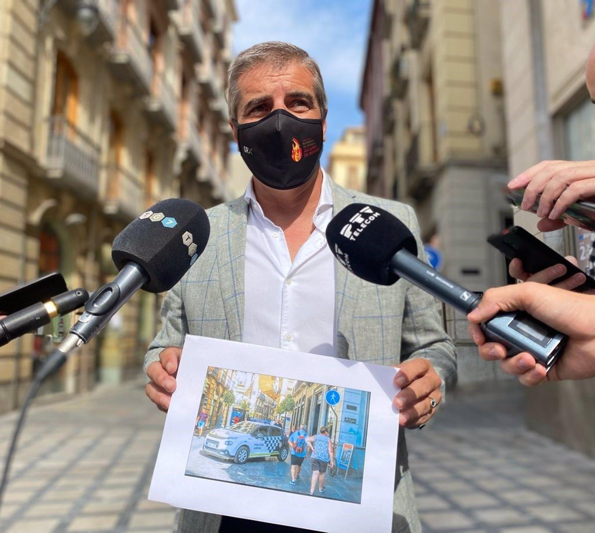 PP censura la supresión de barreras de seguridad en zonas peatonales del casco histórico