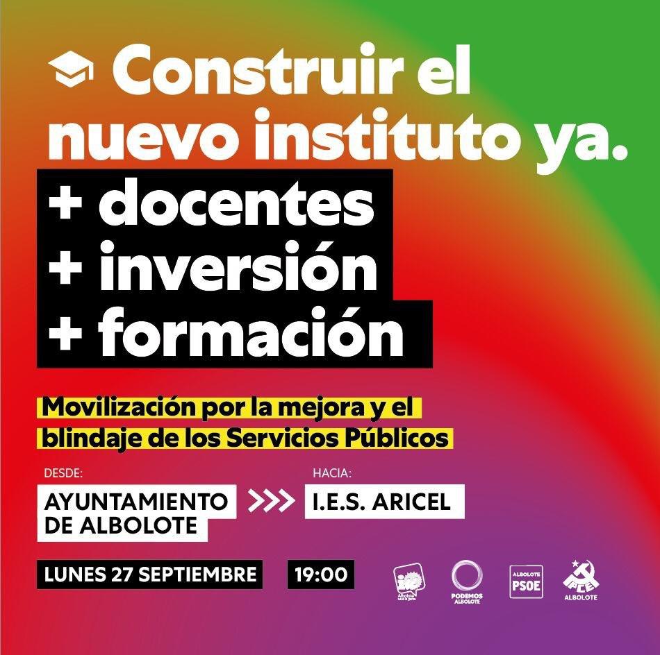 Convocan una concentración para exigir la construcción del nuevo IES de Albolote