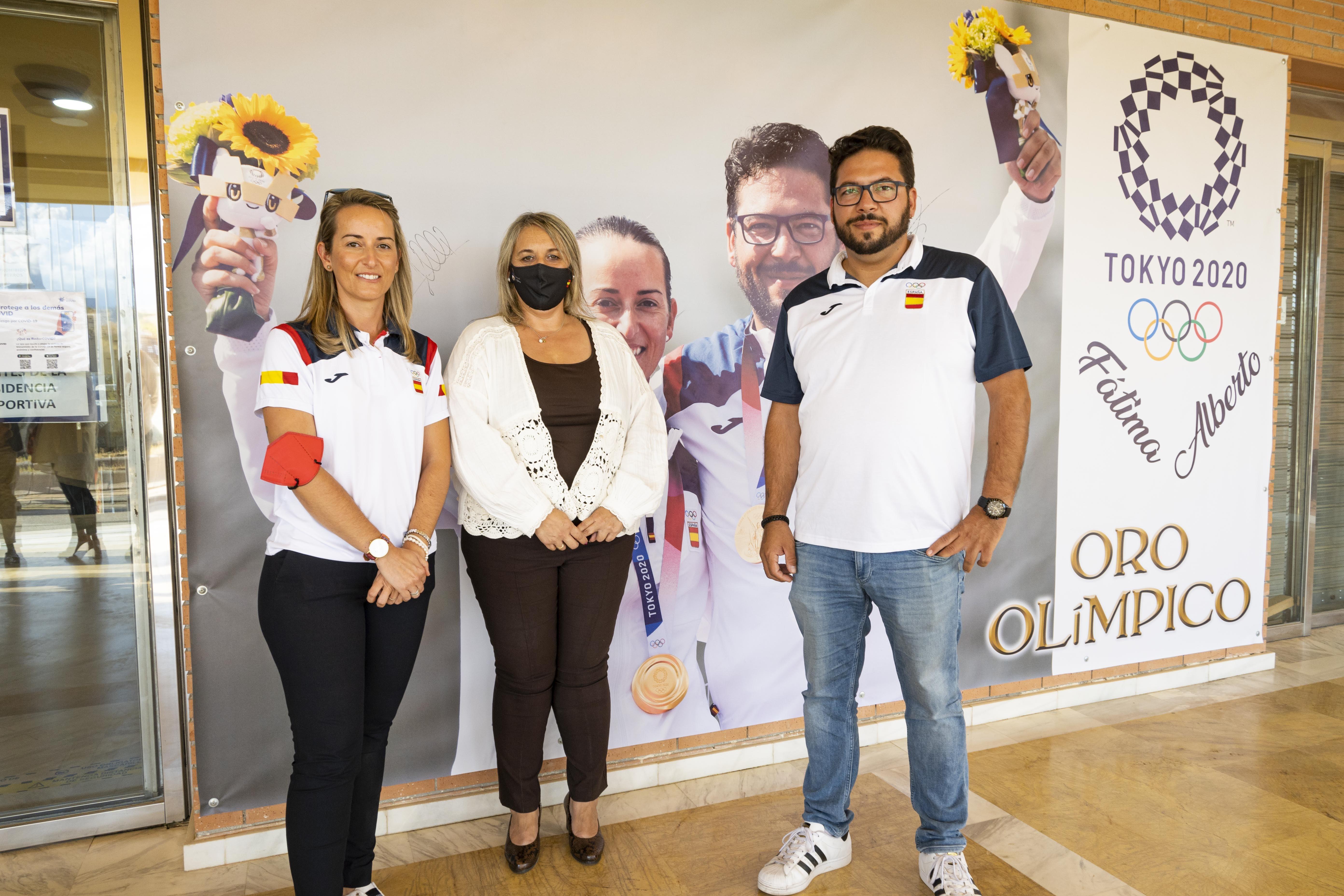 Las Gabias homenajea a Fátima Gálvez y Alberto Fernández, medallistas de oro olímpico en Tokio