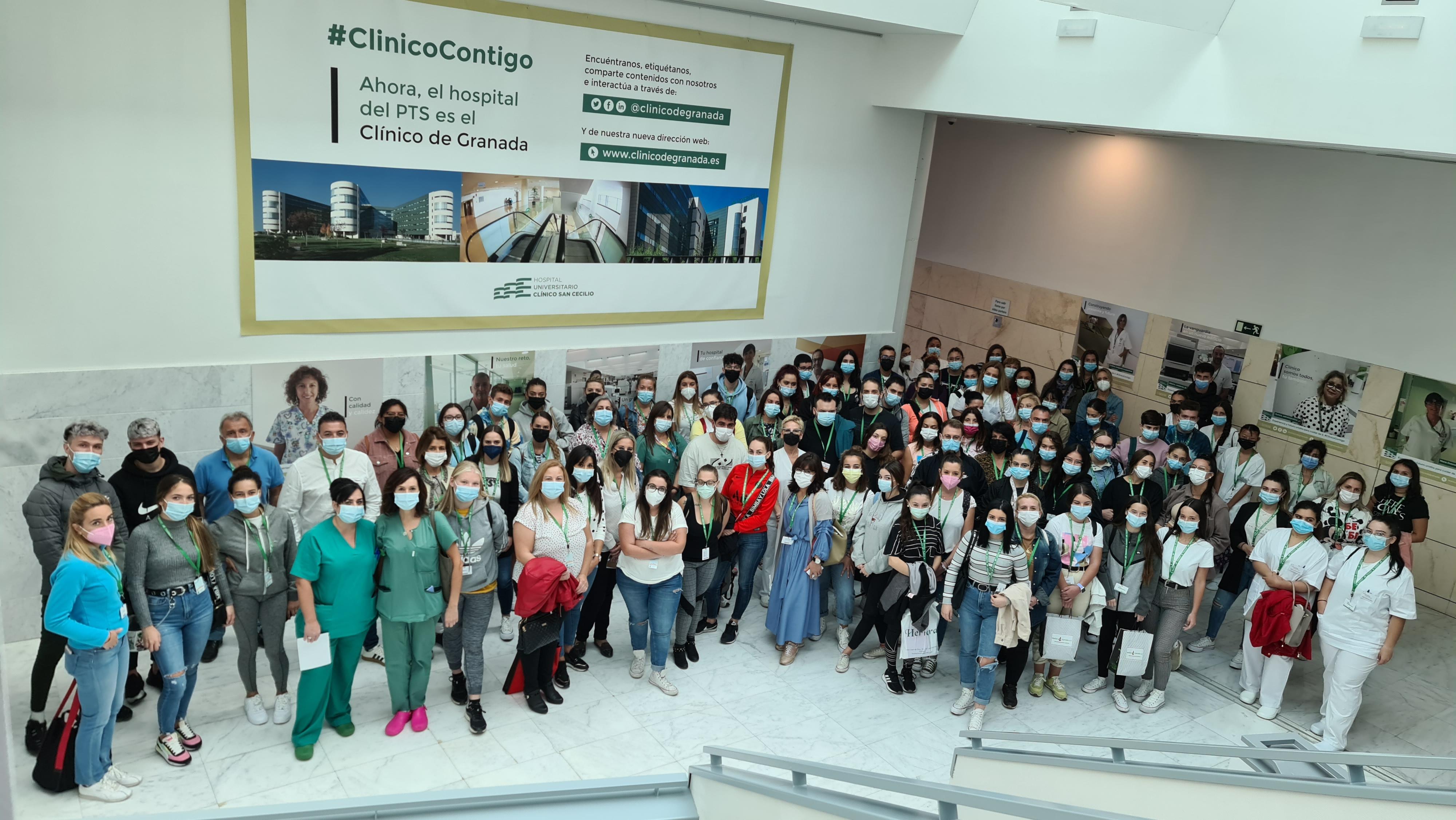 Un centenar de alumnos de ciclos formativos se incorporan desde hoy al Clínico San Cecilio para realizar sus prácticas