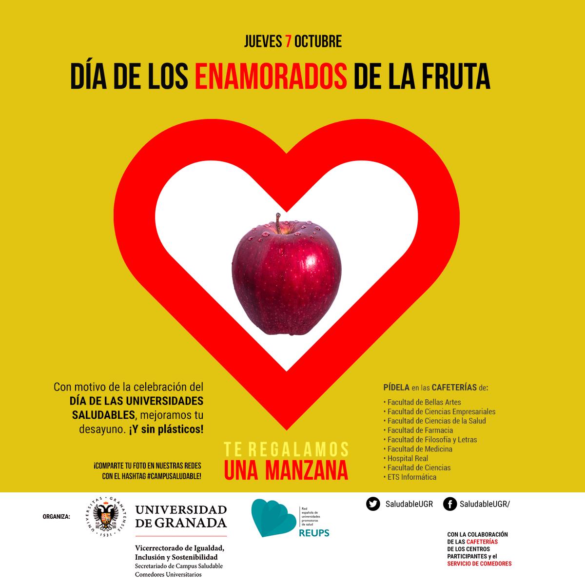 La UGR organiza entregas de fruta y donaciones de sangre con motivo del Día de las Universidades Saludables