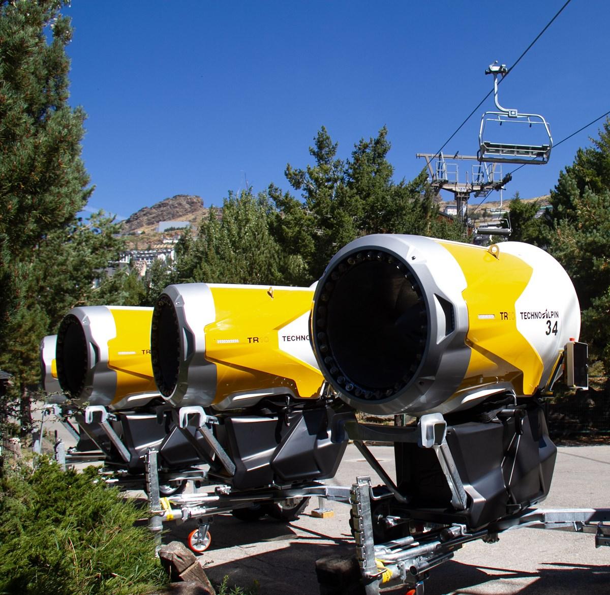 Sierran nevada incorpora 77 nuevos cañones de nieve