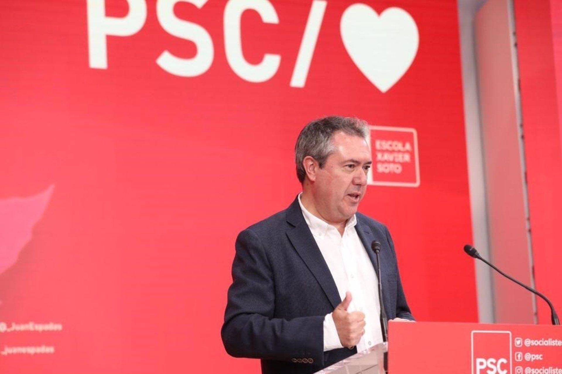 Juan Espadas defiende que Cataluña y Andalucía «deben volver a ser los motores del socialismo»
