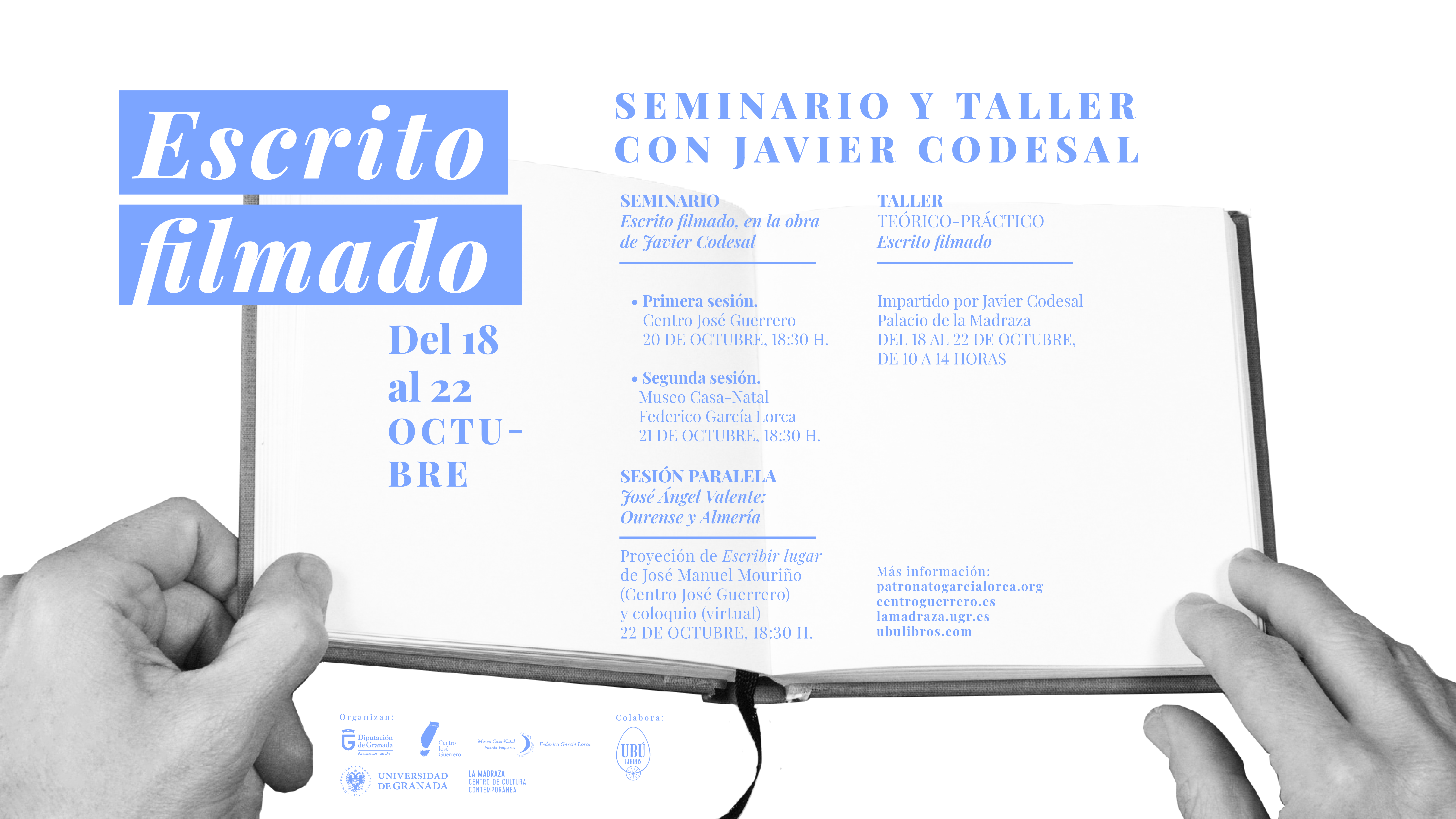 """El seminario y taller """"Escrito filmado"""" analizará el vínculo entre escritura e imagen desde la obra del artista Javier Codesal"""