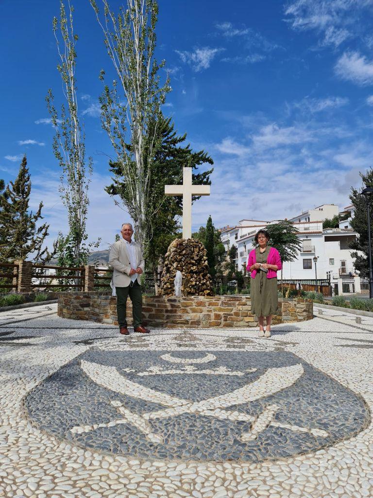 Un proyecto de Diputación recupera el Jardín de la Cruz de Válor y su entorno urbano
