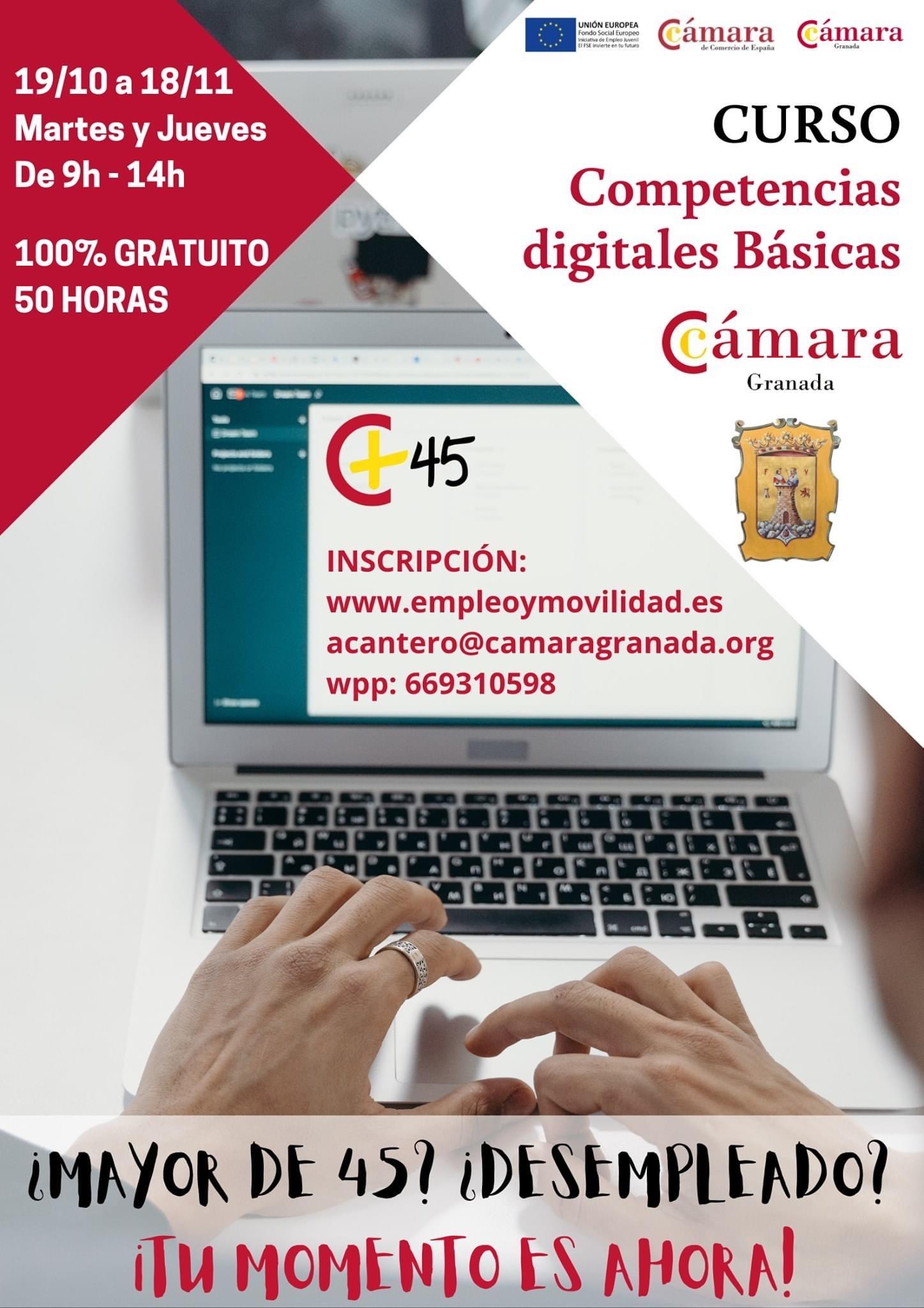 Desempleados de más de 45 años de Montefrío mejorarán sus competencias digitales gracias a un curso municipal gratuito