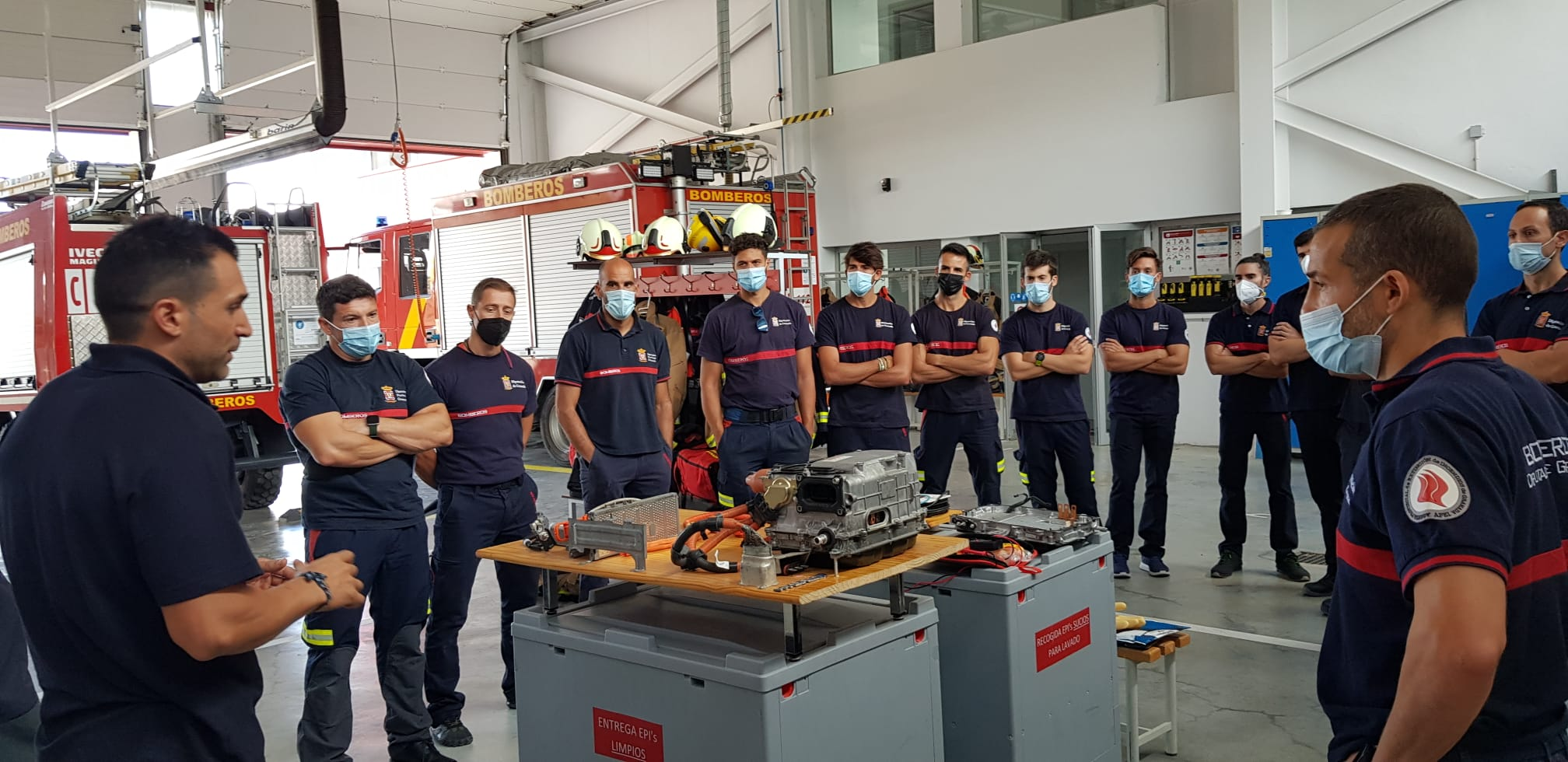 Los bomberos de la provincia se forman en sistemas y actuación en vehículos con energías alternativas