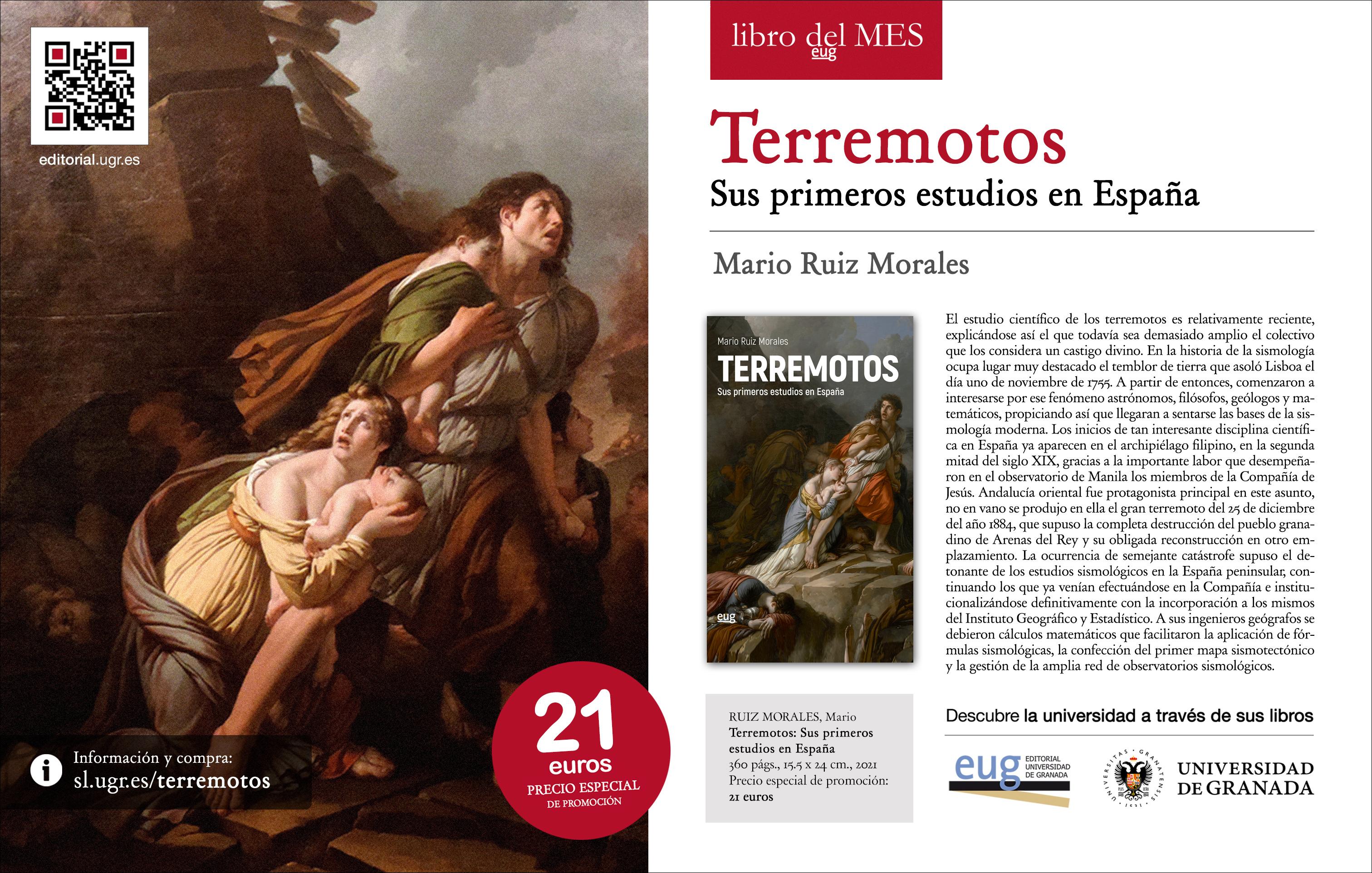 La Editorial de la Universidad elige 'Terremotos: sus primeros estudios en España' como libro del mes de octubre
