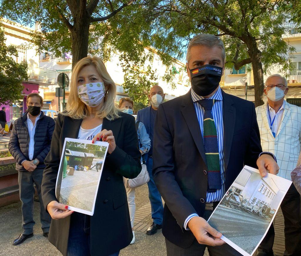 El PP critica el abandono de la Plaza de la Unidad, «tomada por el vandalismo, los robos, el trapicheo y la suciedad»
