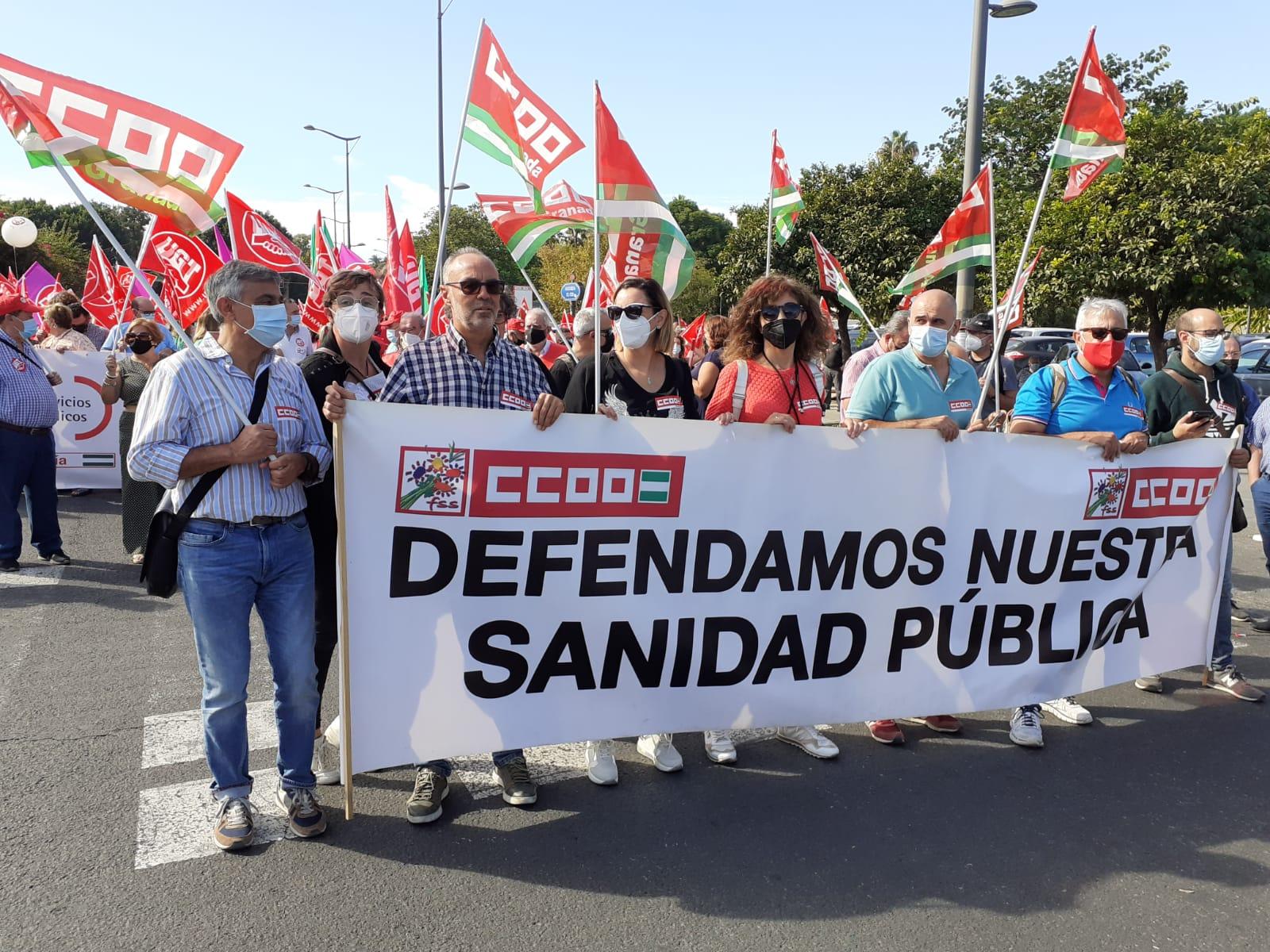 CCOO granada participa en la marcha de Sevilla en defensa de los servicios públicos