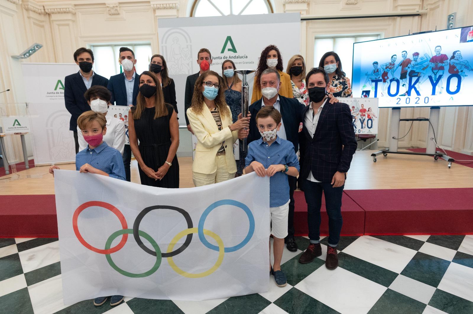 Recepción de Olímpicos Granadinos Tokio 2020 en la Delegación Territorial de Educación en Granada