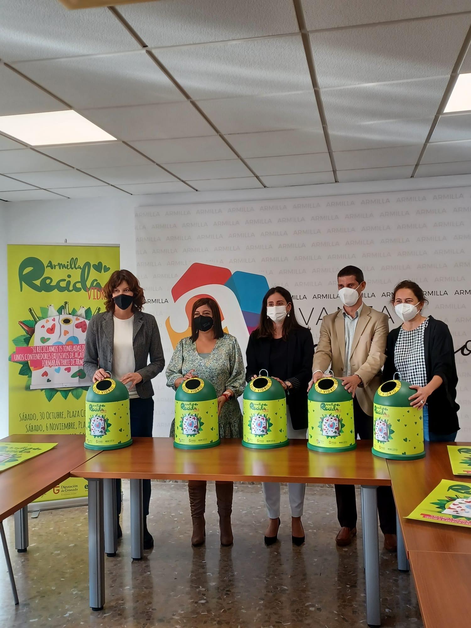 Diputación y Ecovidrio lanzan un reto para promover el reciclaje de envases de vidrio en Armilla