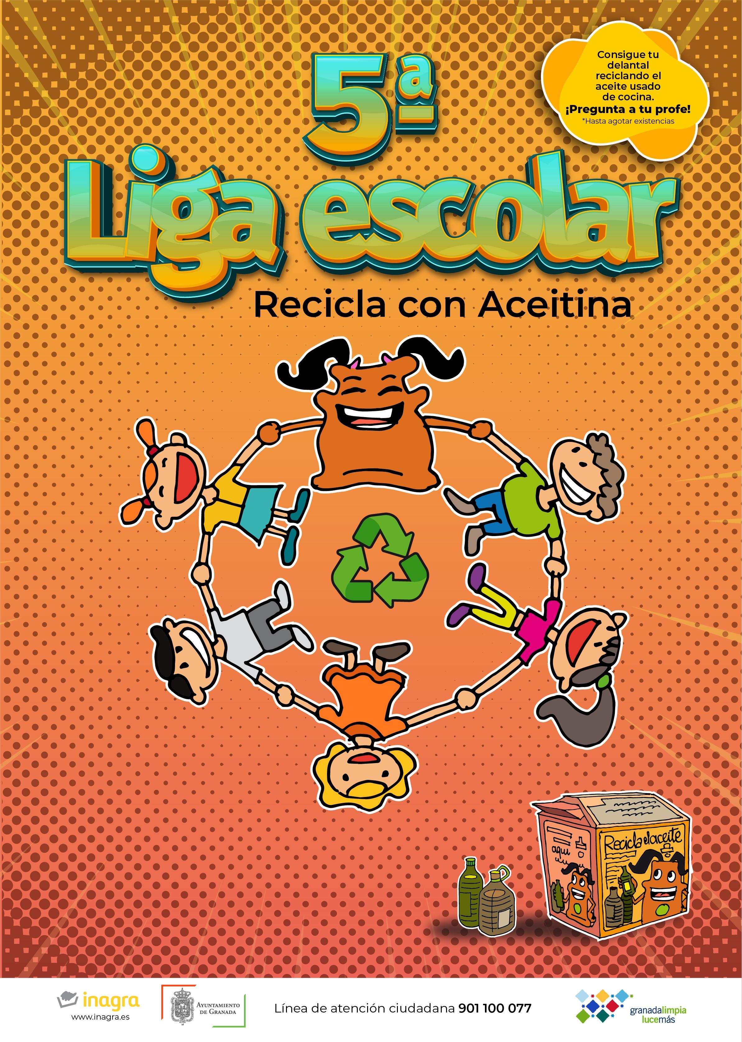 La liga «Aceitina» incentivará a los escolares a reciclar el aceite doméstico