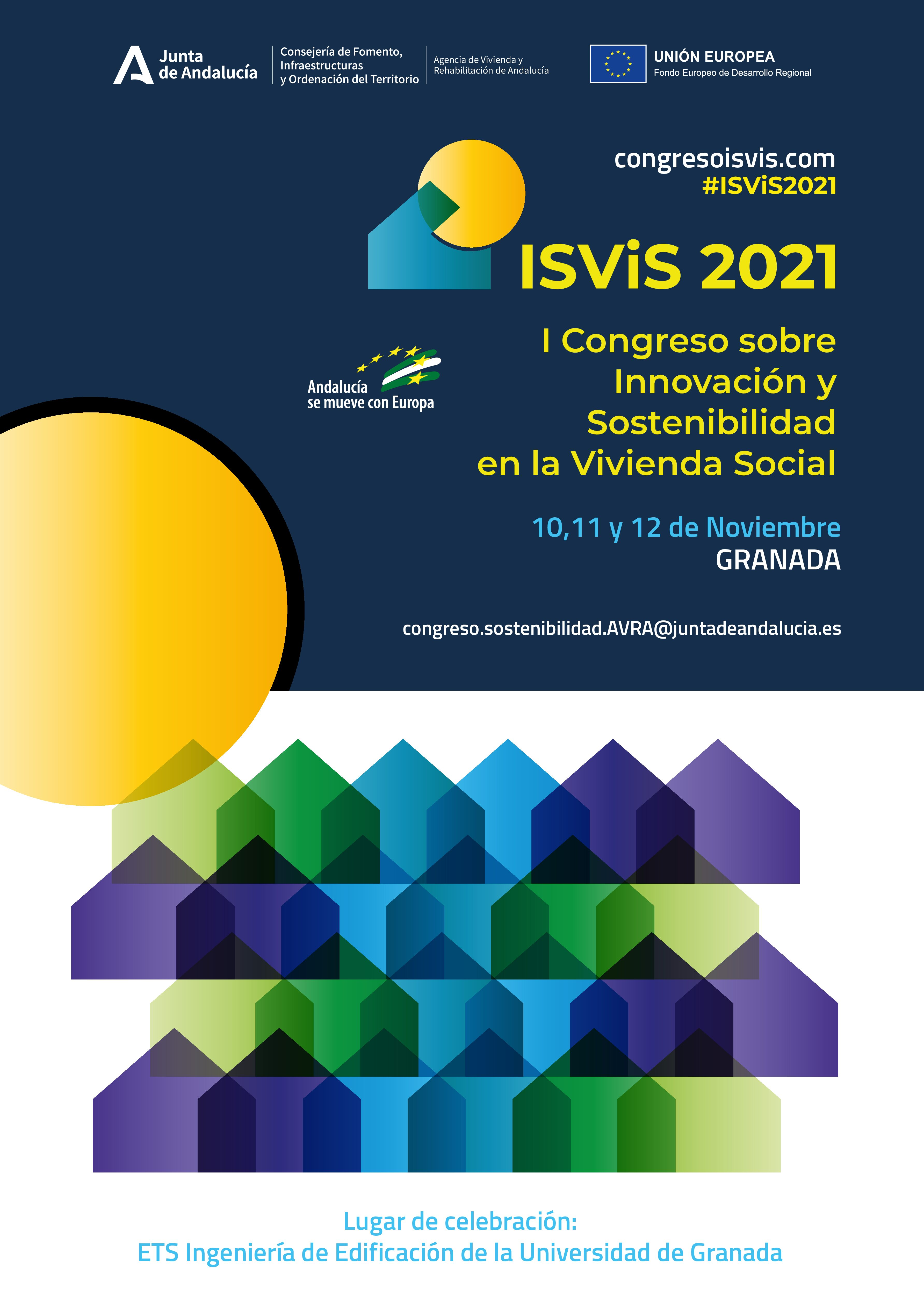 Granada acogerá el I Congreso sobre Innovación y Sostenibilidad en vivienda social en Andalucía