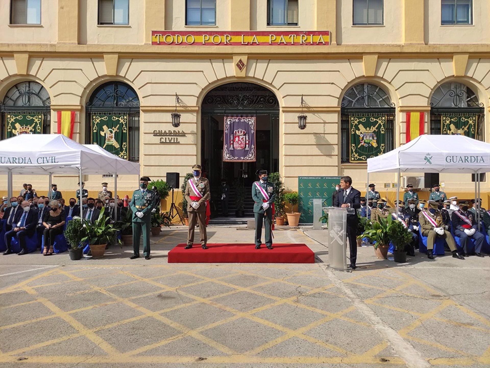 El delegado del Gobierno en Andalucía: «177 años después, la Guardia Civil mantiene intacto su nivel de excelencia»